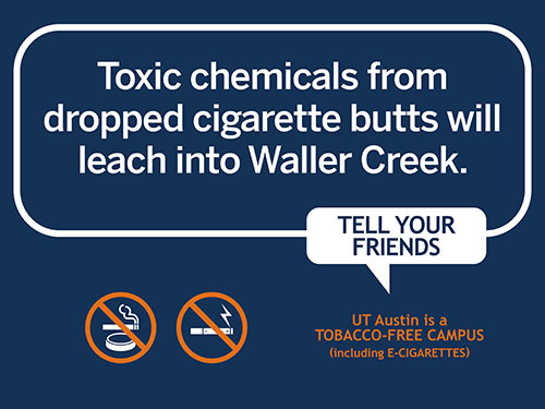 Toxic chemicals from cigarettes leak into Waller Creek