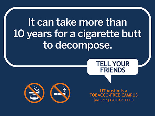 Cigarette butts take 10 years to decompose