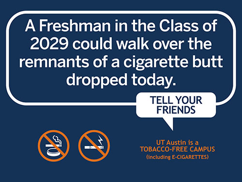 Future Freshmen may walk over today's cigarette butts